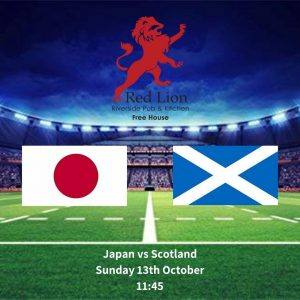 Japan vs Scotland Sunday 13th October